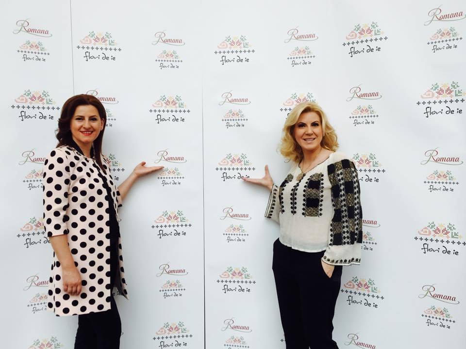 Cristina Chiriac, fondatoarea Flori de IE, împreună cu Gabriela Montoiu, fondatoarea Romana